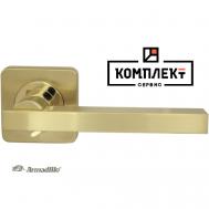 Дверная ручка Armadillo ORBIS SQ004-21SG/GP-4 матовое золото/золото