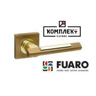 Дверная ручка Fuaro Tango KM AB/GP-7 бронза/золото