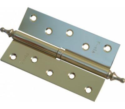 Дверная петля Fuxia 100*2,5 мм разборная с фигурной верхушкой