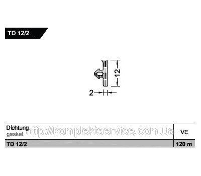 Уплотнитель TD 12/2 для порогов Weser от Gutmann AG