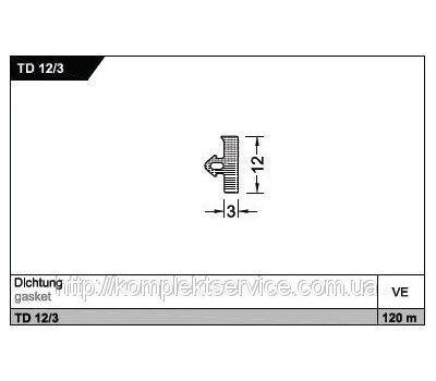 Уплотнитель TD 12/3 для порогов Weser от Gutmann AG