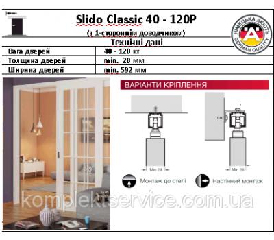 Фото раздвижная система Slido Classic с доводчиком