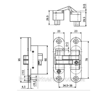 Технические размеры пластины Cemom W 978-00-00