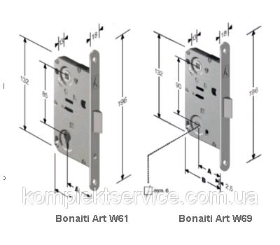 Технические размеры замка Бонаити