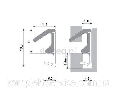 Технические размеры  Schlegel Q-Lon 3104