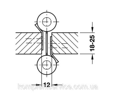 Толщина дверого полотна для маятниковой петли на 15 кг