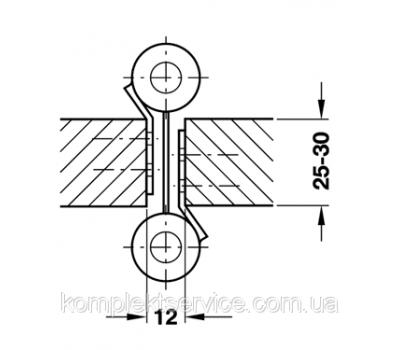 Схема установки маятниковой петли на 22 кг
