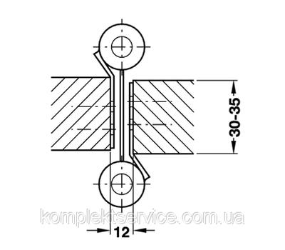 Схема установки барной петли