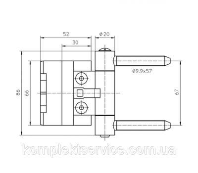 Технические размеры Simonswerk BAKA 2D 20