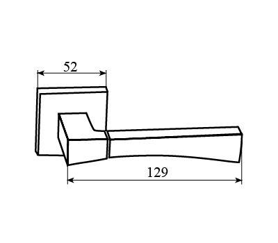 Технические размеры ручки Техно
