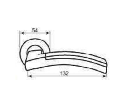 Технические размеры ручки Дэко