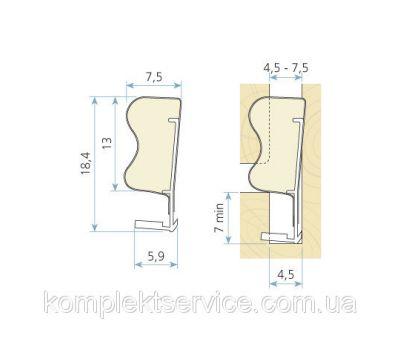 Технические размеры  Schlegel Q-Lon 3053