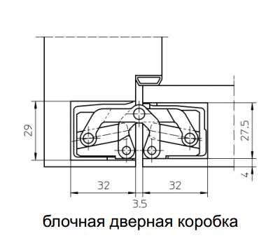 Технические размеры скрытой петли  TECTUS TE 305