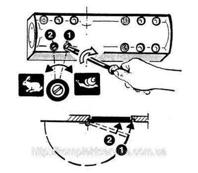 Регулировка скорости доводчика TS 2000V BC