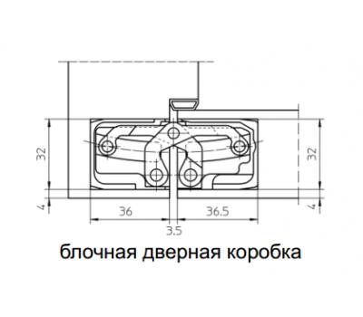 Технические размеры скрытой петли  TECTUS TE 540
