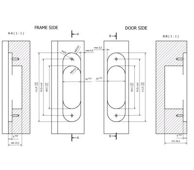 Схема врезки петли Estetic-80A