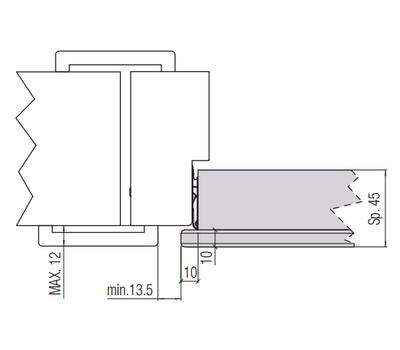 Размеры для установки петли К3000