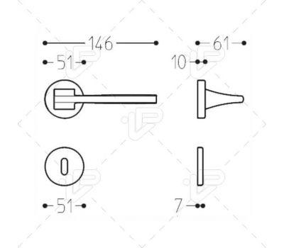 Технические размеры ручки Линк
