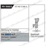 Уплотнитель Gutmann Mira 3065/3 m.F., черный