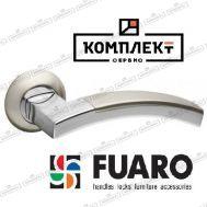 Дверная ручка Fuaro Accord RM SN/CP-3 мат.никель/хром