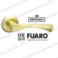 Дверная ручка Fuaro Prima RM SG/GP-4 мат.золото/золото