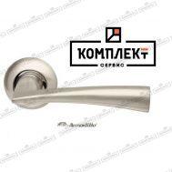 Дверная ручка ArmadilloColumba LD80-1SN/CP-3 матовый никель/хром