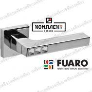 Дверная ручка Fuaro Crystal Flash DM SN/CP-3 матовый никель/хром