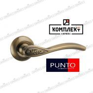 Дверная ручка Punto  Rumba TL ABG - 6 зеленая бронза