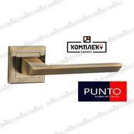 Дверная ручка Punto Blade QL ABG-6 зеленая бронза