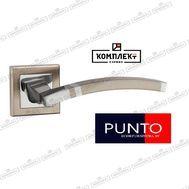 Дверная ручка Punto  Navy QL SN/CP-3 матовый никель/хром