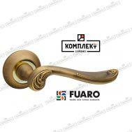 Дверная ручка Fuaro  ART RM AB/GP-7 бронза/латунь