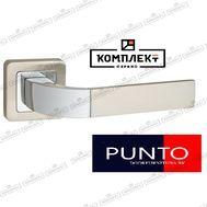 Дверная ручка Punto Orion QR SN/CP-3 матовый никель/хром