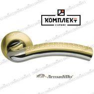 Дверная ручка Armadillo Libra LD26-1SG/CP-1 матовое золото/хром