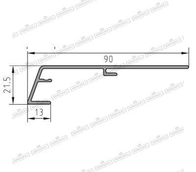 Защита рамы BUG-Alutechnik (Rahmenprofil unten 600 149)
