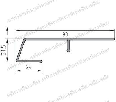 Защита рамы BUG-Alutechnik (Rahmenprofil unten 600 123)