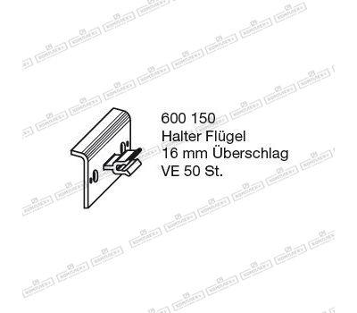 Держатель створки BUG-Alutechnik (Halter Flügel 600 150 )