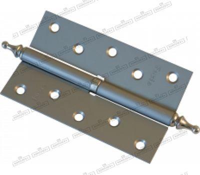 Дверная петля Fuxia 125*2,5 мм разборная фигурной верхушкой