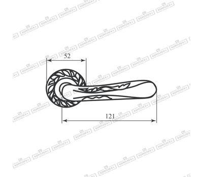 Технические размеры ручки АС0385