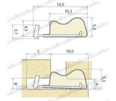 Технические размеры  Schlegel Q-Lon 3072