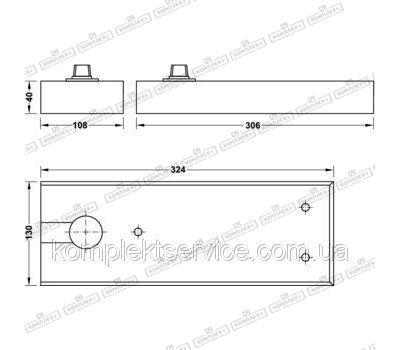 Технические размеры Hafele BTS DCL 41