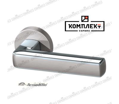 Дверная ручка  Armadillo CUBE URB3 SN/CP/SN-12 матовый никель/хром/матовый никель.