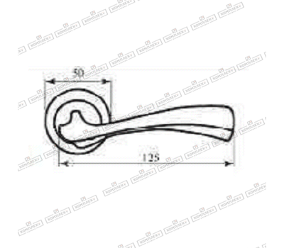 Технические размеры ручки Калипсо