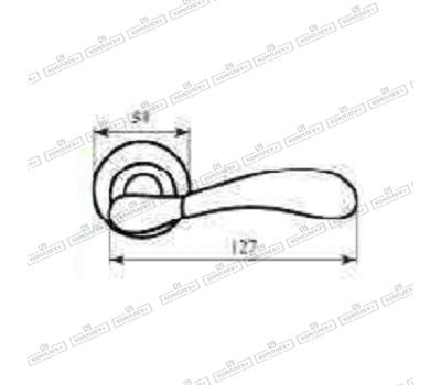 Технические размеры ручки Имола