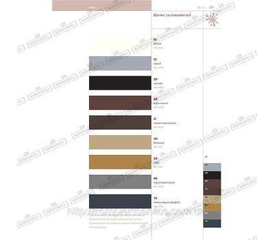 Цветовая гамма уплотнителя Deventer
