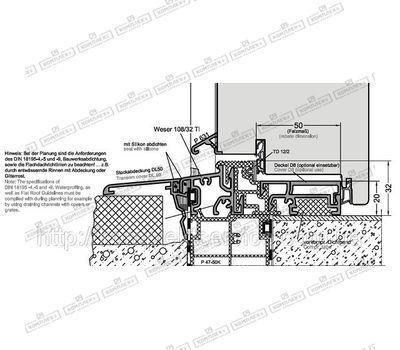Схема монтажа порога от Gutmann