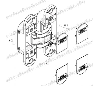 Способ установки на кладок Estetic-80A