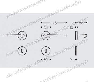 Технические размеры ручки Смарт
